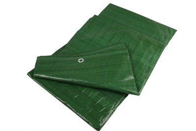 Gruba plandeka okryciowa zielona 10x18m 90gram