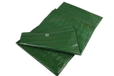 Gruba plandeka okryciowa zielona 8x12m 90gram
