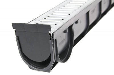 Kanał do odwodnienia liniowego z ocynkowanym rusztem 90x90x1000mm 10szt + Zaślepka końcowa 2szt GRATIS!