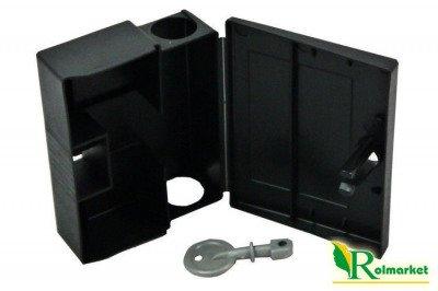 Karmnik deratyzacyjny na myszy MOUSE BOX 100szt z kluczykami + trutka w postaci pasty 250g GRATIS