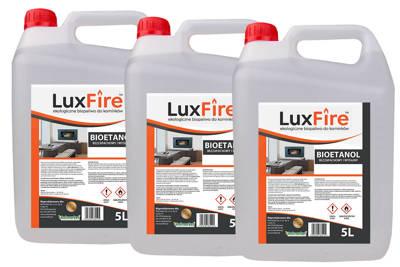 Biopaliwo do kominka (bioetanol do biokominka) ekologiczne  - Lux Fire™ 15 litrów