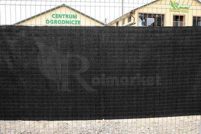 Mata Raffia 1,2 x 3m czarna 100 % zaciemnienia – osłonowa, rafia balkonowa