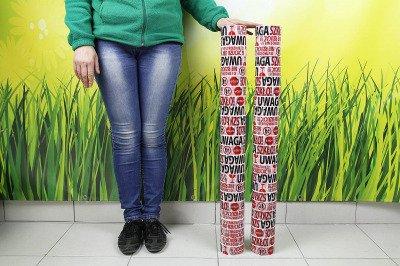 Mocna taśma pakowa samoprzylepna z nadrukiem UWAGA SZKŁO! 96szt