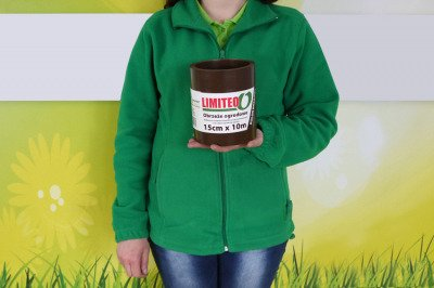 Obrzeże trawnikowe ogrodowe brązowe, proste 15cm x 10m LIMITEO
