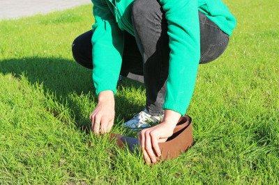 Obrzeże trawnikowe ogrodowe czarne, proste 10cm x 10m LIMITEO