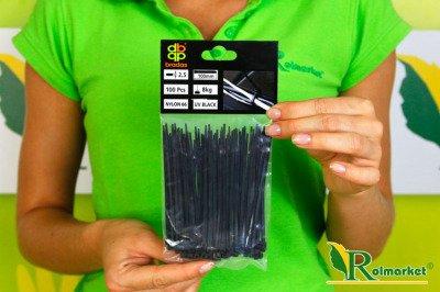 Opaski kablowe czarne 2,5x130 mm (100 szt.)