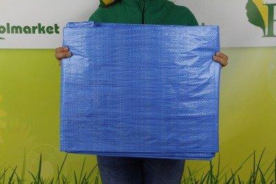 Plandeka okryciowa niebieska 15x20m
