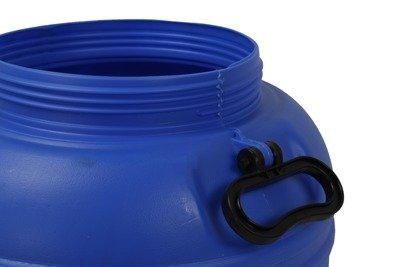 Polska plastikowa beczka do kiszenia z atestem (niebiesko-czarna) CN8 - 80 litrów