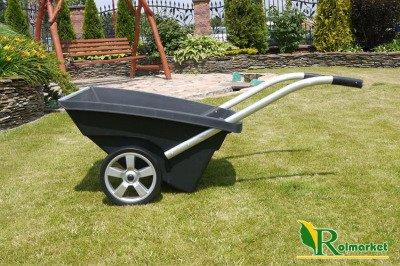Solidna taczka ogrodowa 2-kołowa Hagsen 120L czarna