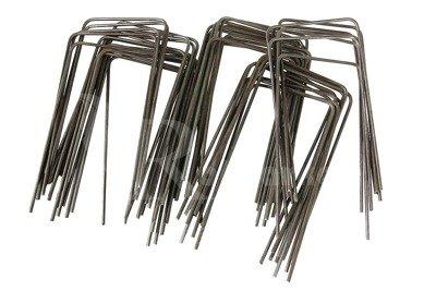 """Szpilki metalowe do mocowania agrotkaniny, agrowłókniny i geowłókniny , model """"U"""" 15cm - (100 szt.)"""