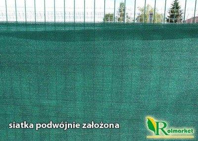 Totaltex zielona - najgęstsza siatka maskująca, osłonowa na ogrodzenia, balkon 2x30m 95%